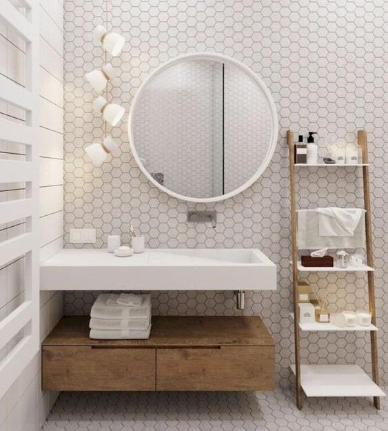 rangements pour petite salle de bain