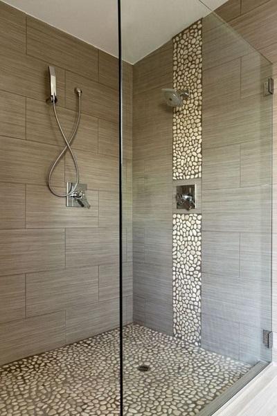 Douche italienne avec receveur à carreler
