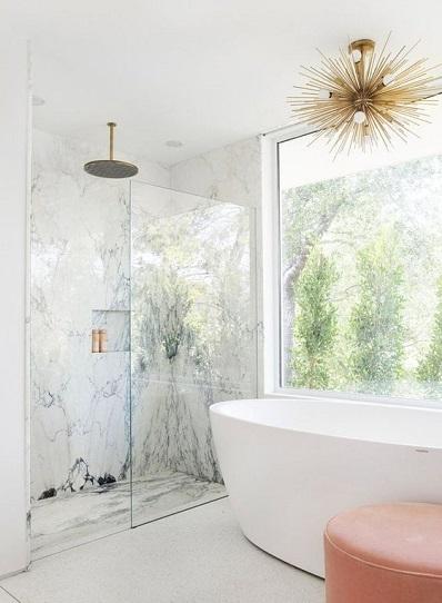Receveur de douche en marbre