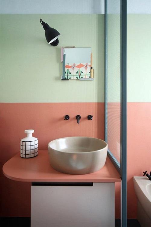 Salle de bain bicolore