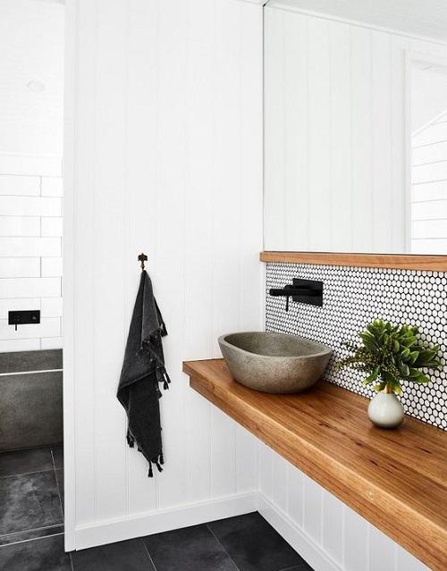 carrelage pierre naturelle pour salle de bain