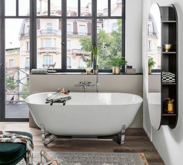 Salle de bain de reve avec baignoire ilot