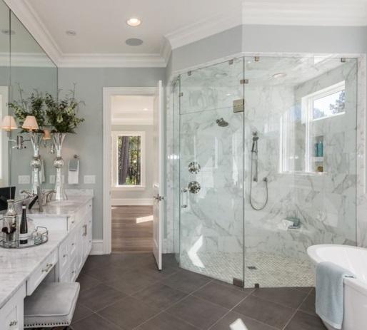 Modèles de salle de bain avec douche : salle de bains avec ...