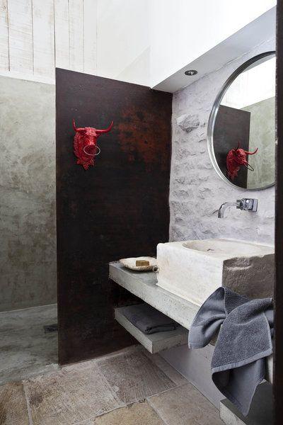 Meuble salle de bains en pierre