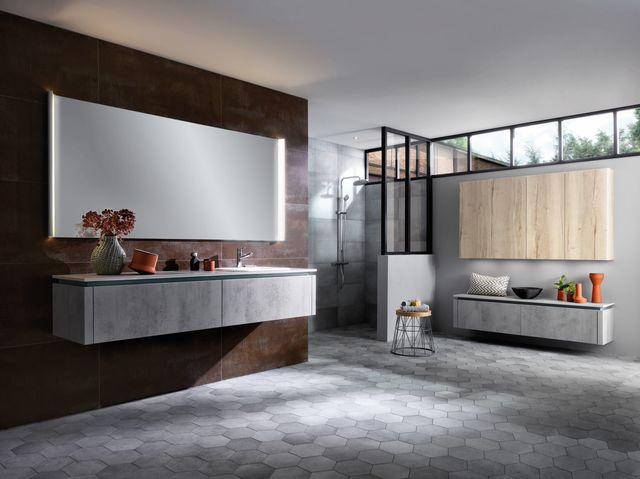Salle de bain beton cire