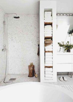 Salle de bain sans receveur de douche