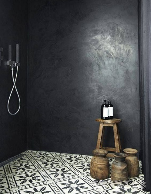 Salle de bain sans bac à douche
