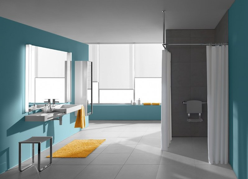 Salle de bain PMR avec douche