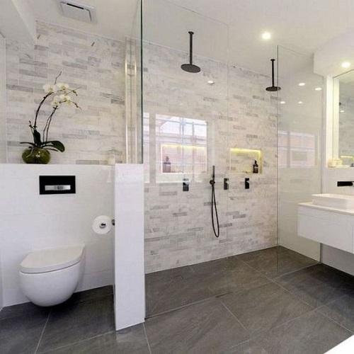Muret wc salle de bain