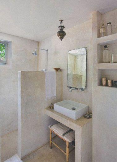 stuc pour salle de bain douche