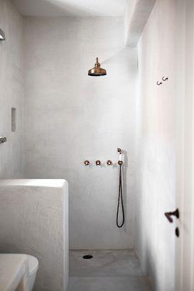 Tadelakt pour salle de bain douche