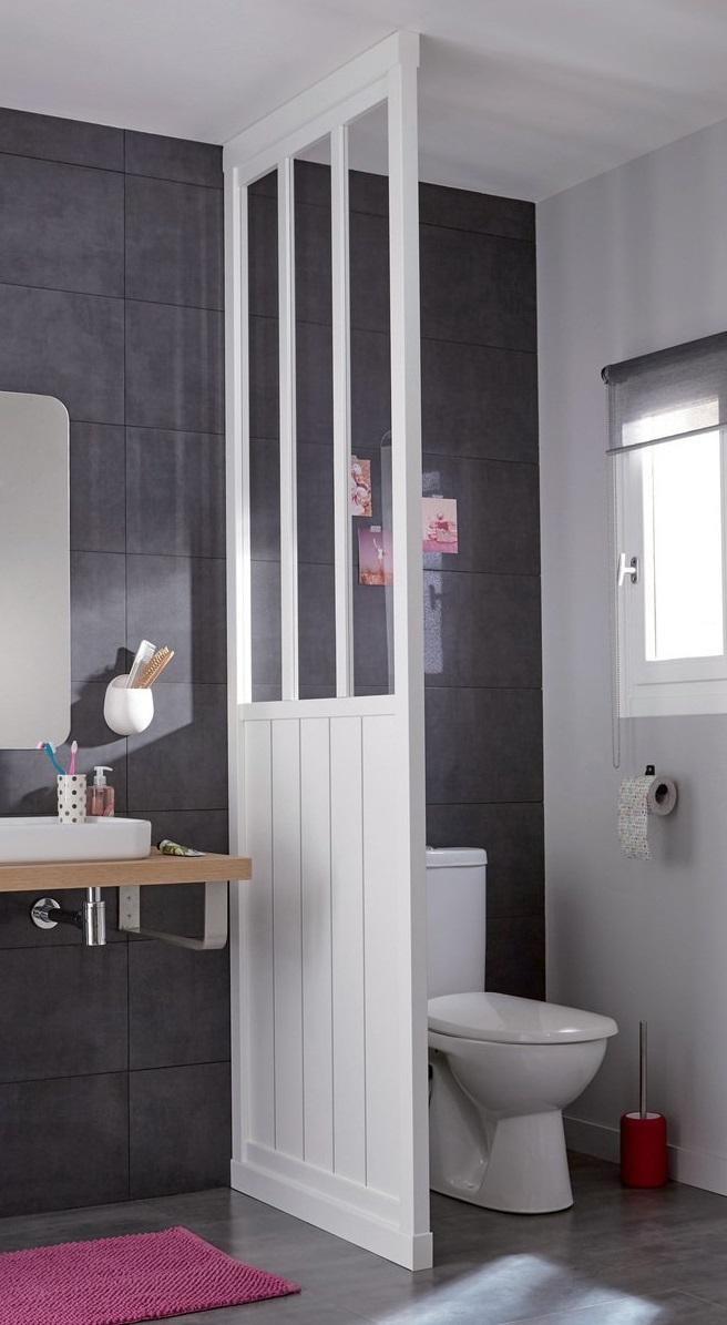 Salle de bain avec douche verrière : choisir sa paroi ...