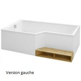 Jacob delafon baignoire 150 x 80 60 cm bain douche for Baignoire profondeur 60 cm