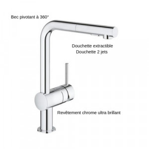 Robinet Cuisine Douchette Extractible Grohe Minta