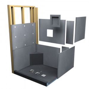 panneau wedi douche beautiful receveur de douche carreler avec vacuation linaire caniveau et. Black Bedroom Furniture Sets. Home Design Ideas