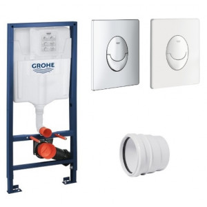 Bati support Grohe - Plaque de de commande wc suspendu Grohe Skate Air