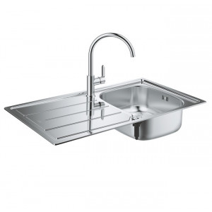 Pack evier cuisine + robinet Grohe - Evier cuisine 1 bac Grohe K200