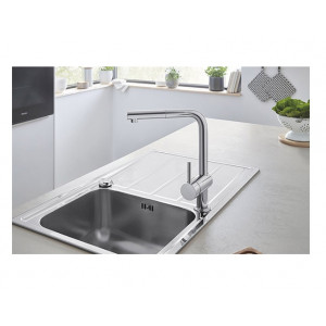 Robinet cuisine Grohe avec douchette - Robinet evier Grohe