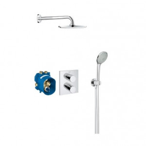 Mitigeur thermostatique 2 sorties Grohe Grohtherm 3000 - Robinet douche encastrable Grohe Grohtherm 3000
