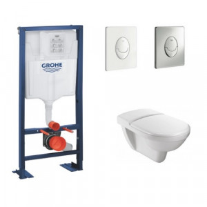 Wc pmr - Bati support wc suspendu Grohe