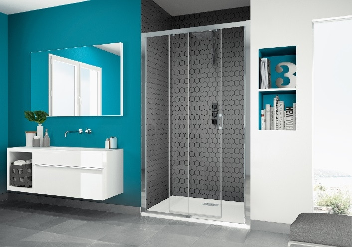 paroi douche porte coulissante kinedo smart c. Black Bedroom Furniture Sets. Home Design Ideas
