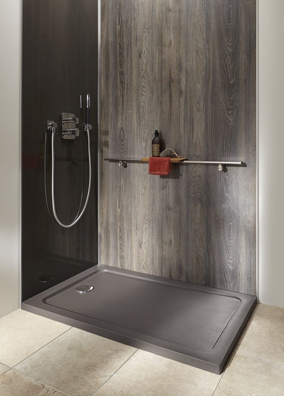 Receveur douche couleur anthracite gris taupe jacob for Carrelage 90 x 90
