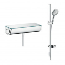 Pack mitigeur douche thermostatique Hansgrohe Ecostat complet