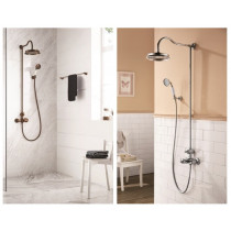 Colonne de douche thermostatique - Colonne de douche retro Paini Lady's