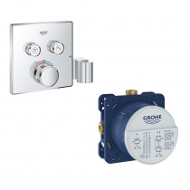 mitigeur thermostatique encastrable Grohe Grohtherm Smartcontrol - Grohe Rapido Smartbox