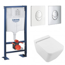 Pack wc suspendu Villeroy et Boch Finion - Bati wc Grohe Rapid SL