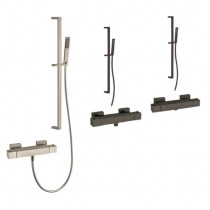 Robinet douche thermostatique + ensemble douche Paini Dax Square