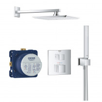 Robinet douche thermostatique encastrable Grohe Grohtherm Cube Rainshower Allure 230