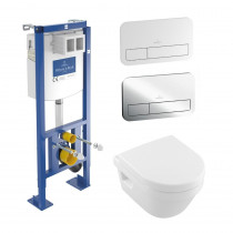 Pack wc suspendu Villeroy et Boch Architectura bati support Viconnect