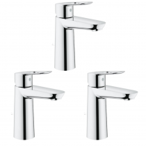 lots de 3 Robinet lavabo Grohe - BauLoop Grohe Taille M - Batinea - OGS Distribution