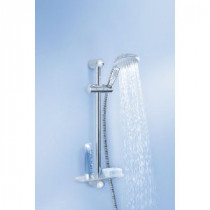 GROHE - Ensemble de douche New Tempesta 100 barre + flexible + douchette 3jets + porte-savon en ABS