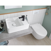 Vasque a poser avec plage robinetterie rectangle Villeroy et Boch Collaro