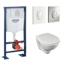Pack wc compact Jacob Delafon Patio - Bati support Grohe Rapid SL