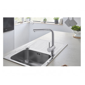 Robinet cuisine Grohe douchette extractible Minta