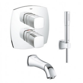 Robinet thermostatique encastrable bain Grohe Grandera