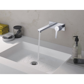 Robinet mural lavabo Grohe Lineare - Taille L