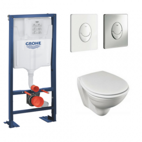 Pack wc suspendu gain de place Patio Jacob Delafon Bati support Grohe