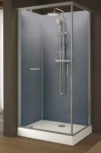 leda cabine de douche kara rectangulaire fond blanc 120 x 90 r f l11ka4r0301 batipass. Black Bedroom Furniture Sets. Home Design Ideas