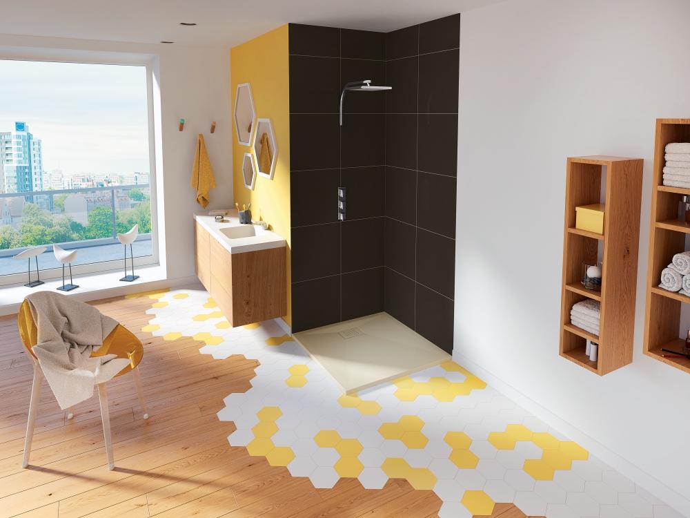 kinedo receveur douche carr kinesurf 80 x 80 gris. Black Bedroom Furniture Sets. Home Design Ideas
