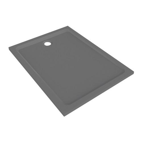 Allia - Receveur douche gris brillant Prima Style marbrex, 120 x 90