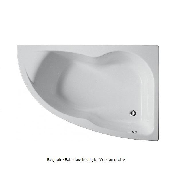 Baignoire douche microméga duo Jacob delafon E60218 - fiche produit