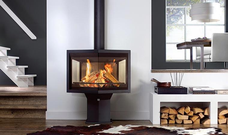 poele bois design contemporain chauffage batinea. Black Bedroom Furniture Sets. Home Design Ideas